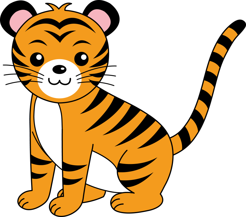 Baby Tiger Clip Art