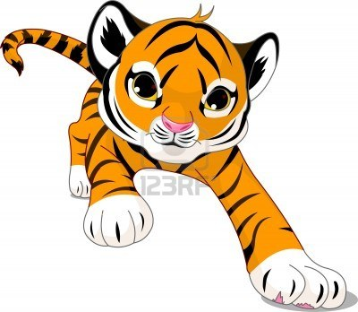Baby Tiger Clipart #1
