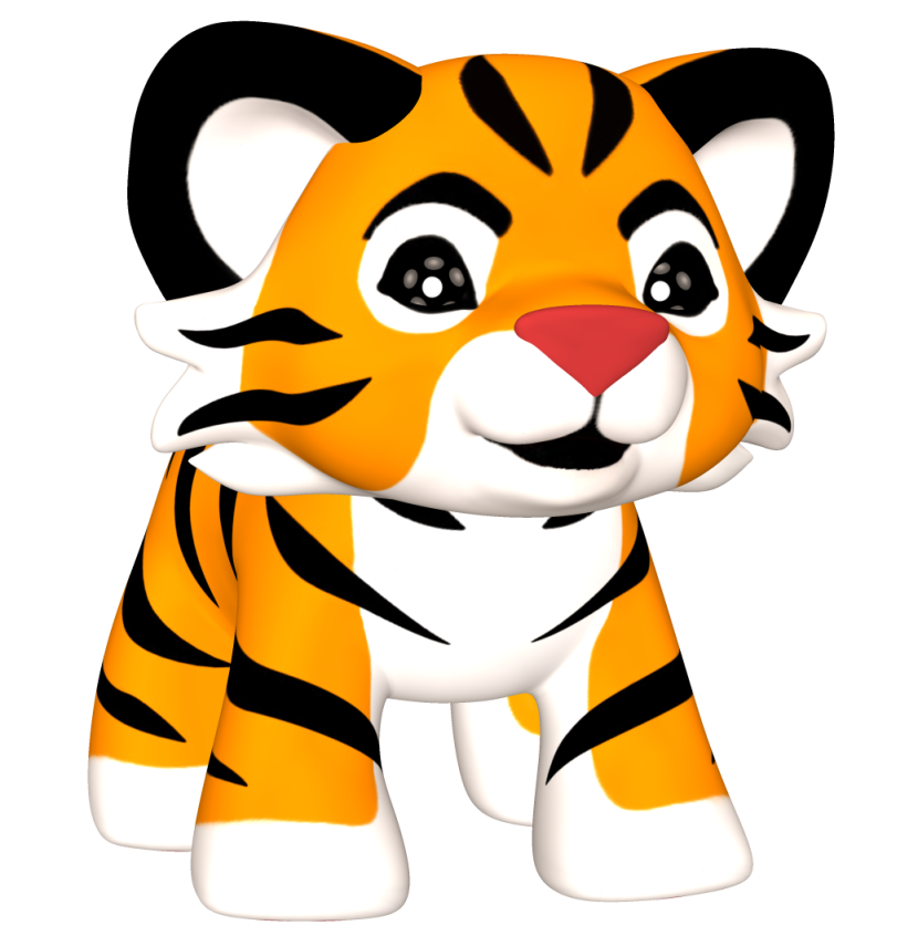 Baby tiger clipart 2 image 1