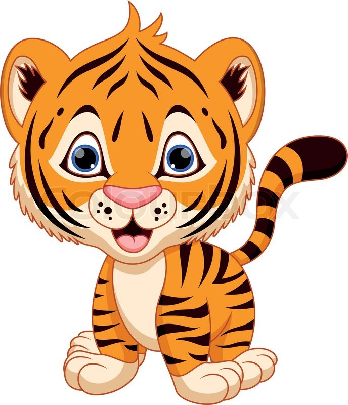 Baby Tiger Clipart #24499
