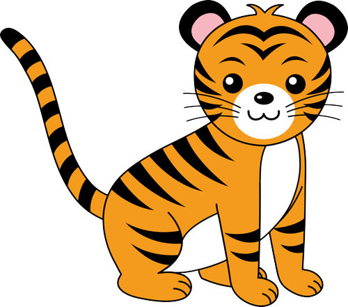 Baby Tiger Clipart #24502