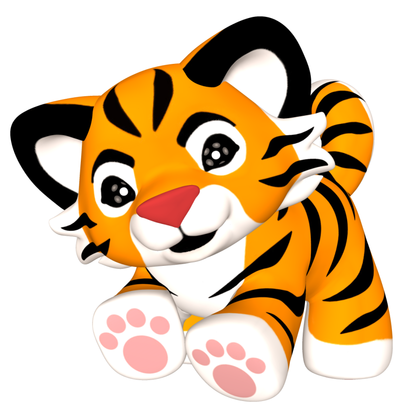 Cub clipart cute tiger pencil and in color cub