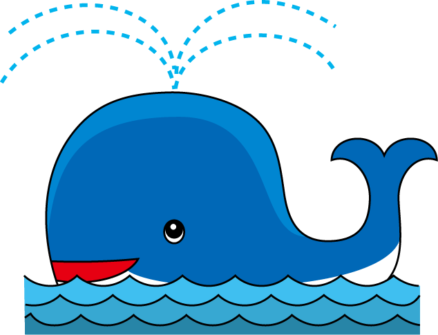Baby whale clip art free