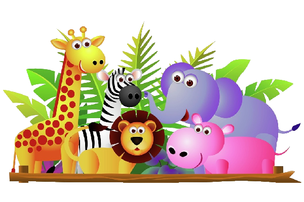 Baby Zoo Animals Group Clip .