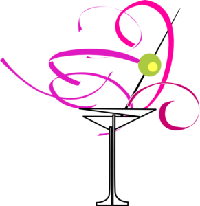Cocktail Bachelorette Party Clipart #1