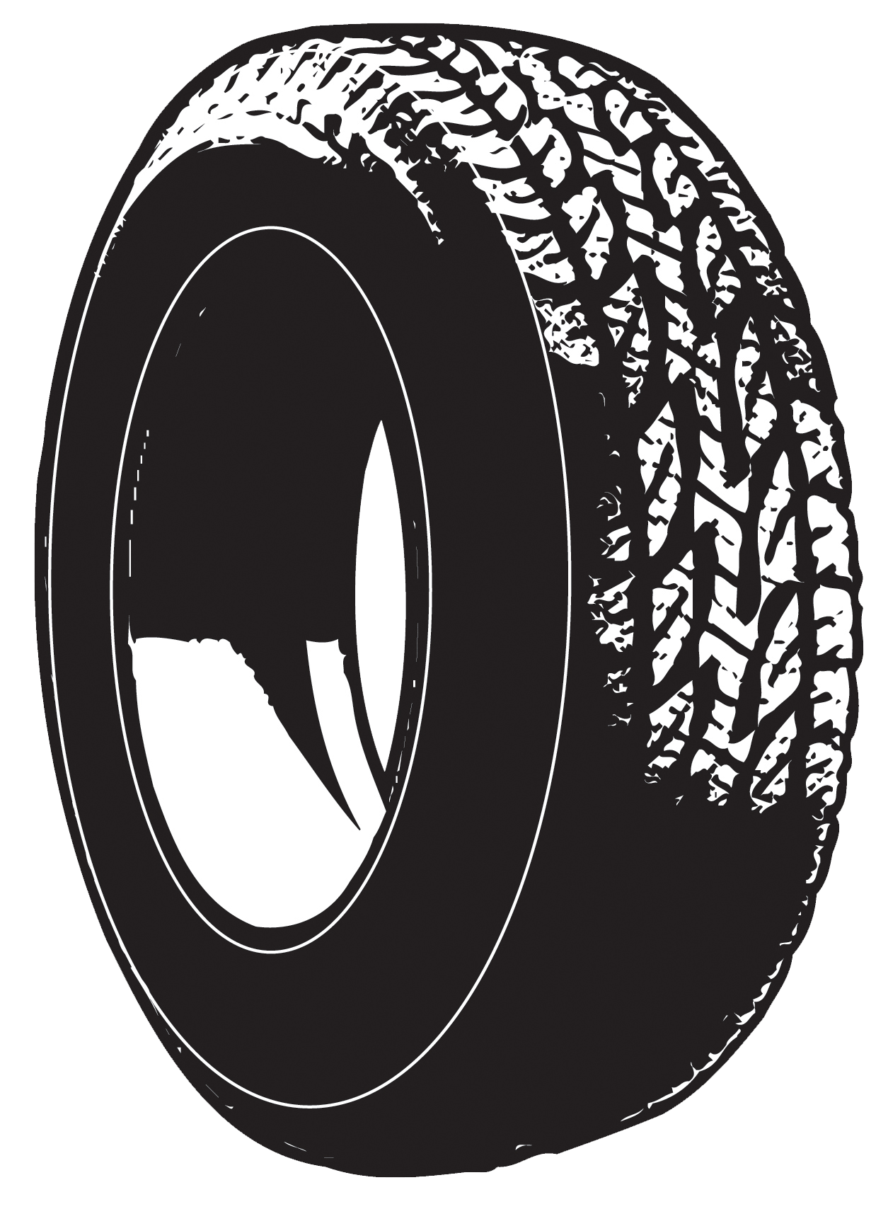 Back Car Tire Clipart