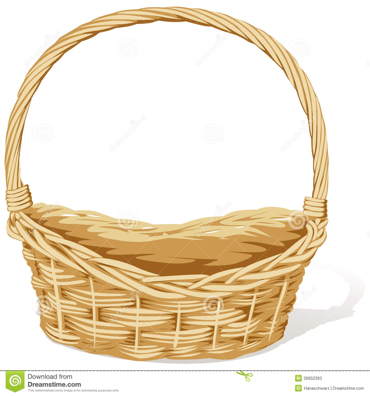 Back Flowers For Empty Easter Basket Clipart