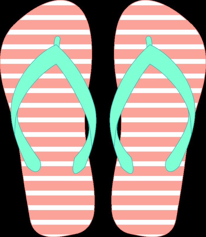 Back Gallery For Simple Flip Flop Clip Art