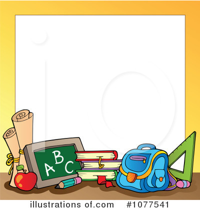 Back To School Border Clipart Royalty Free Rf Back To School