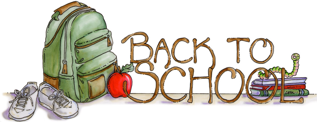 Back To School Bag And Shoes Clipart