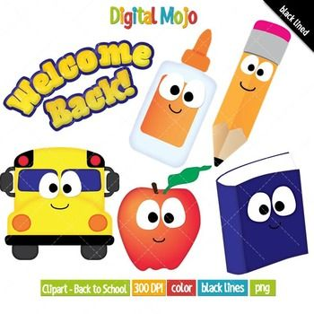 welcome back to school clipart 2