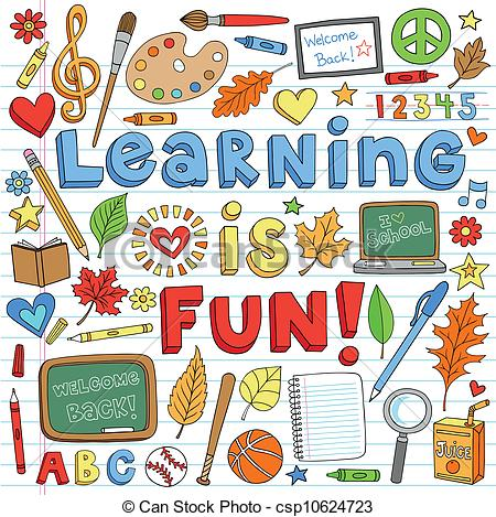 ... Back to School Learning Doodles Set - Learning is Fun Back.