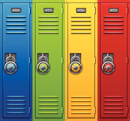 Back to School Lockers vector .