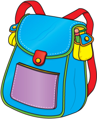 Blue Backpack Clipart (41 )_W - Backpack Clipart