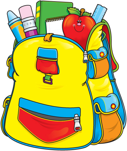 Kid packing backpack clipart free clipart images