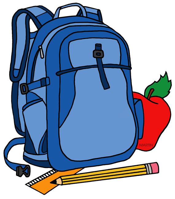 School clip art by phillip martin backpack