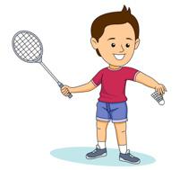 badminton clipart. Size: 116 Kb