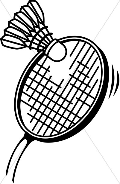 Badminton in Black and White