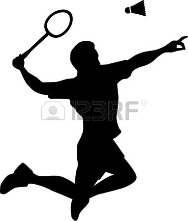 Badminton Player Silhouette Illustration