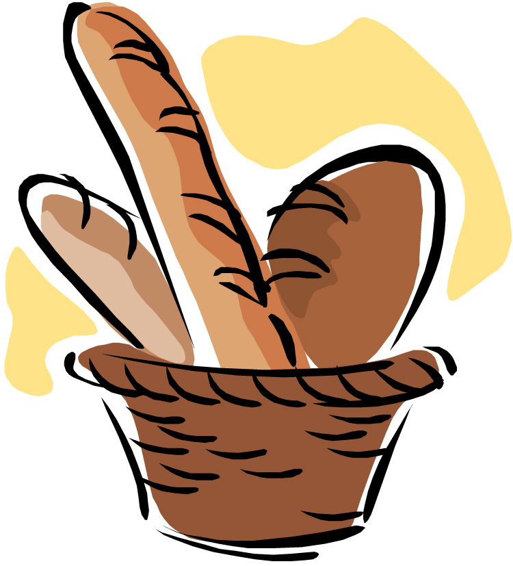 Bread Basket Clipart Black An