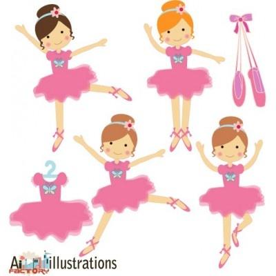 ballerina clipart illustrations by Asmaa Murad