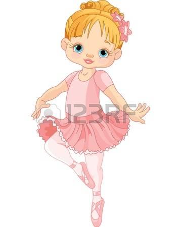 ballerina: Illustration of Dancing Little Ballerina Illustration