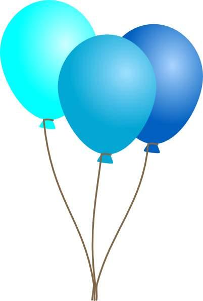 Balloon blue ballons clipart