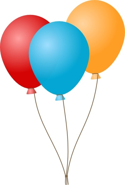Free Three Colorful Balloons