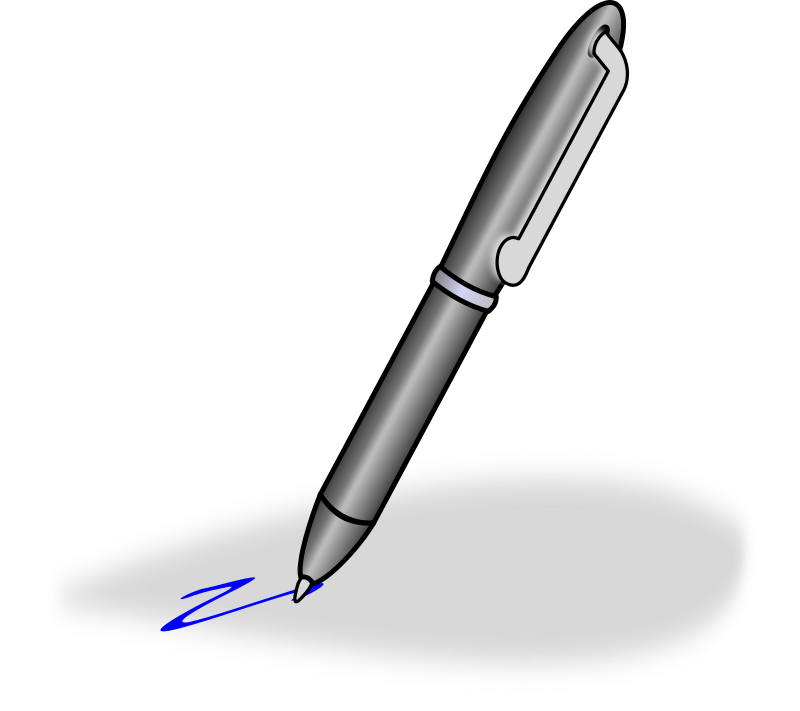 Ballpoint pen clipart free clipart images