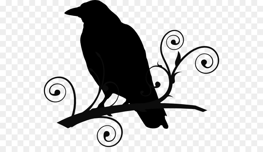 Common raven The Raven Baltimore Ravens Clip art - Tribal Crow Tattoo  Designs