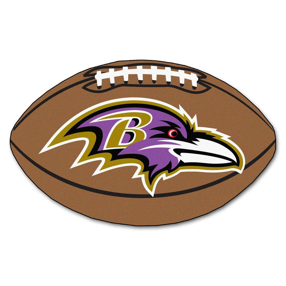 FANMATS NFL Baltimore Ravens Brown 2 ft. x 3 ft. Specialty Area Rug