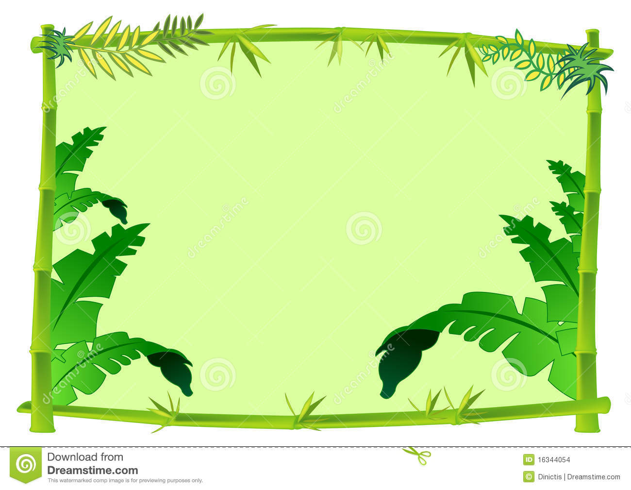 Bamboo And Jungle Frame Concept Illustration Stock Images Image