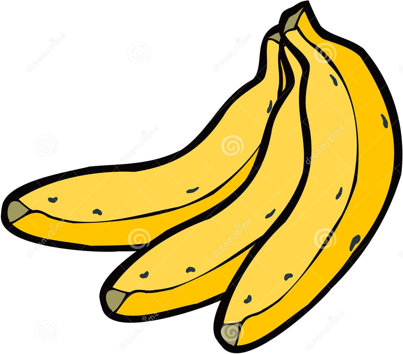 banana clipart black and white