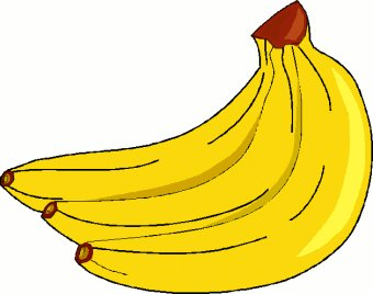 Banana clipart black and whit