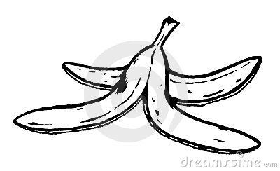 Banana Peel Royalty Free Stock .