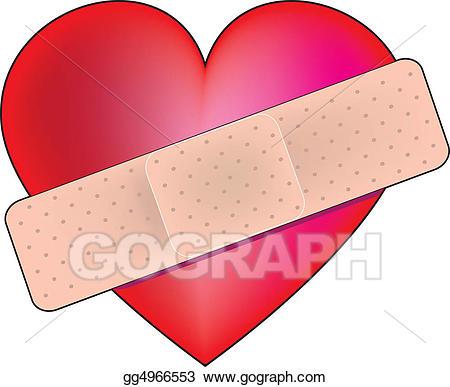 Heart Bandaid - Bandaid Clipart