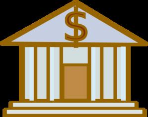 Bank Dollar Brown Clip Art
