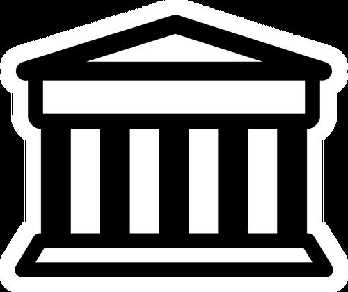 Bank pictogram vector clip art public domain vectors