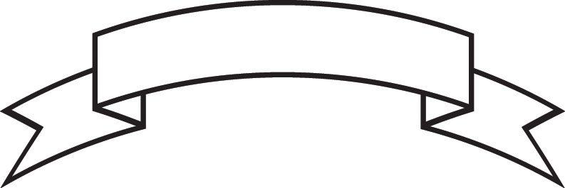 White Ribbon Banner Clipart - Clipartix inside Banner Clip Art 1900