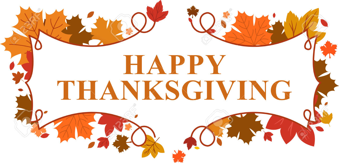 Banner Happy Thanksgiving .