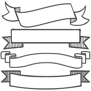 Banner Set SVG scrapbook banners svg cut filesbanners svg files free svgs free svg cuts clipart
