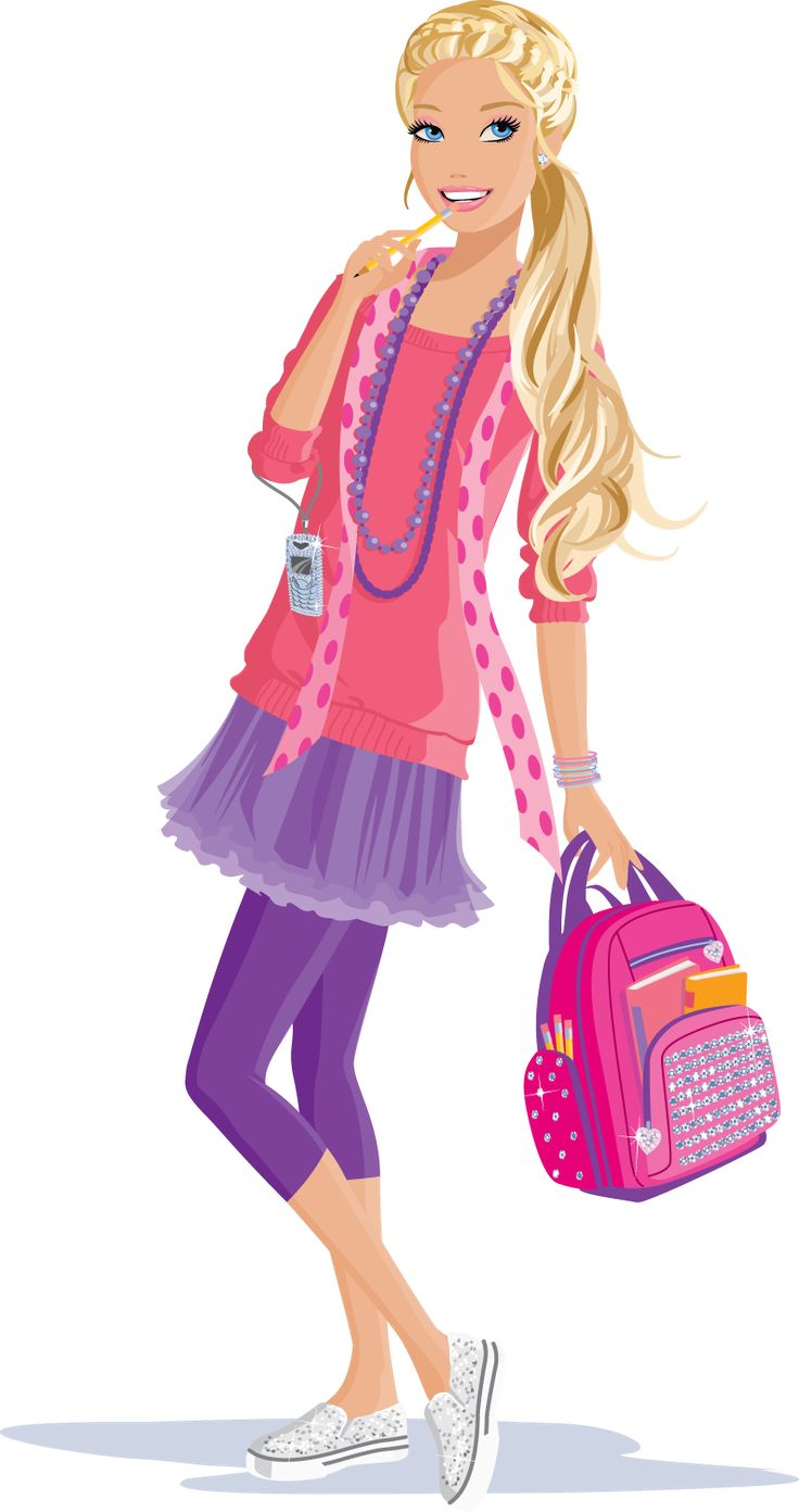 Stylish barbie clipart