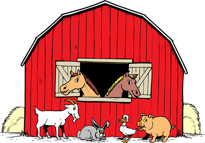 Barn animals clipart clipart .