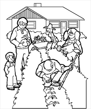 Barn Clipart Black And White ... gardening