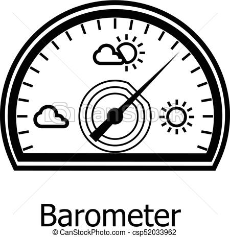 Barometer Icon, Simple Style Vector