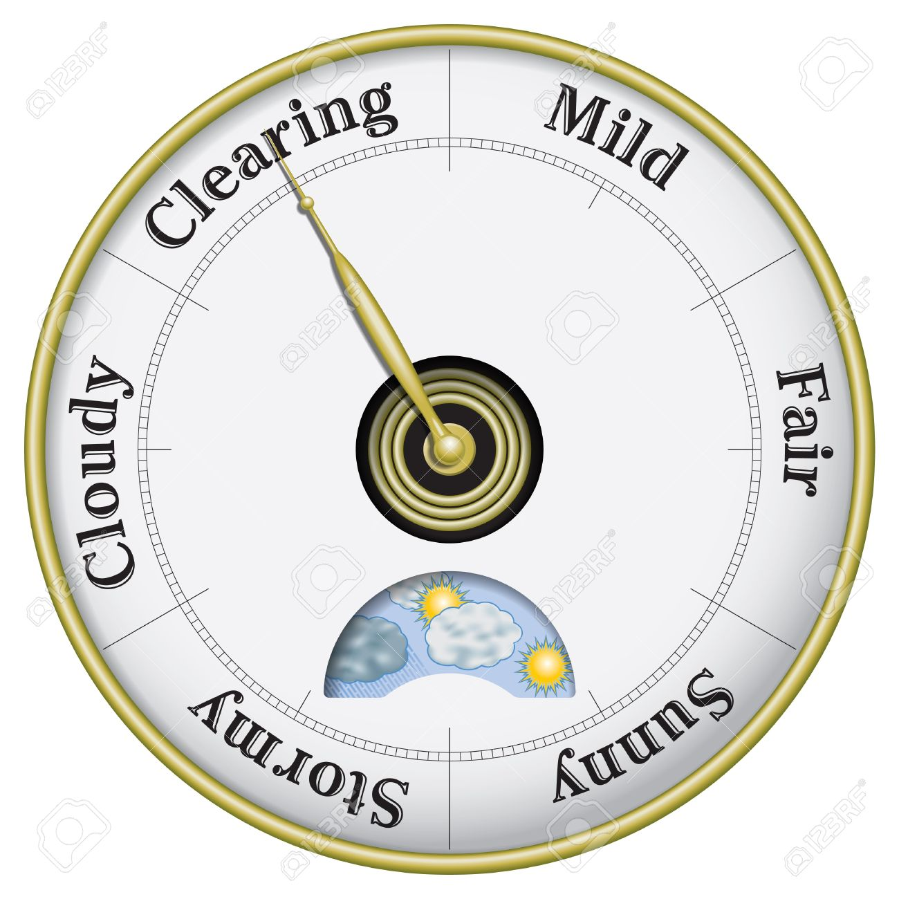 Business And Weather Outlook Barometer Royalty Free Cliparts