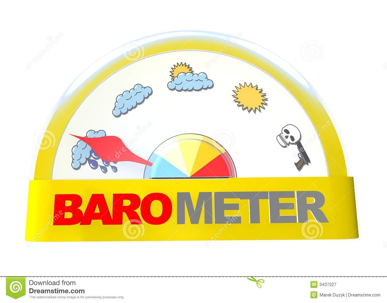 Crazy barometer. Indicate crazy weather Royalty Free Stock Photography