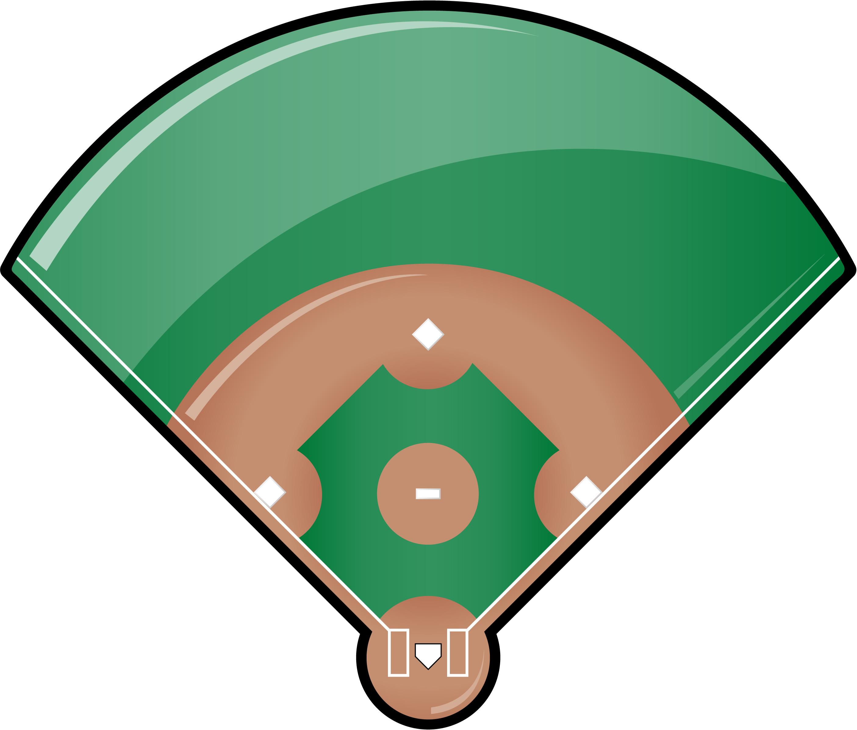 baseball field clipart