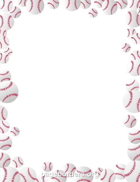 Baseball Bat Border u0026middot; Baseballs Border