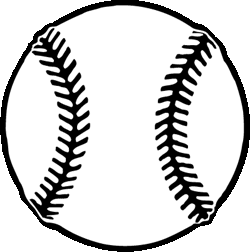 baseball clipart black and white 3
